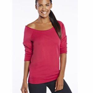 Fabletics Tempe Sweatshirt Half Sleeve Pink/Red